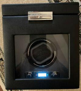 WOLF 456102 Viceroy Single Watch Winder Black With Storage.