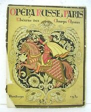 Opera Russe a Paris - Theatre des Champs Elysees Performance of Prince Igor 1930