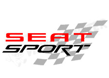 Seat Sport Car Sticker, Ibiza Leon FR TDI Cupra R