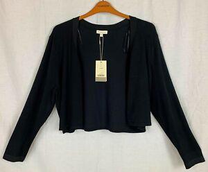 MONSOON 'CAMILLA' Womens Black Cropped Party Cardigan XL