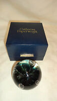 Caithness Glass Paperweight 'Moonflower' With Presentation Box & Certificate