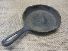 "Vintage 6 1/2"" Cast Iron Skillet > Camping Antique Old Primitive Cookware 8671"