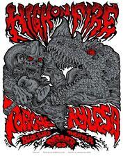 HIGH ON FIRE, TORCHE, KYLESA Denver 10 poster Tim Lehi
