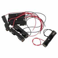 1X(7x Schwarz+Rot Wires Plastikhalter-Kasten Batteriekasten fuer 1 x 1,5 V AA DA
