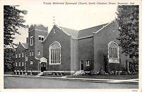 Seymour Indiana~South Chestnut Street Trinity Methodist Episcopal ME Church~1940