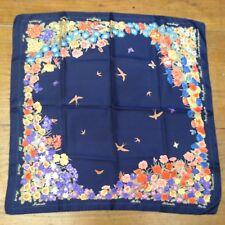 Classic CORNELIA JAMES Birds& Flowers Silk Scarf
