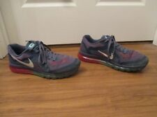 Used Worn Size 12 Nike Air Max 2014 Shoes Blue Recall, Red, Blue, Teal, White