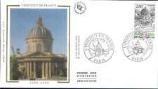 2973  FDC     ENVELOPPE 1er JOUR SUR SOIE    BICENTENAIRE INSTITUT DE FRANCE