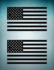 2x autocollant sticker voiture moto drapeau usa etats unis americain noir vinyl