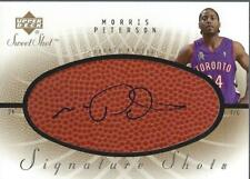 2002-03 Upper Deck Sweet Shot Signature Shots #MP Morris Peterson AUTO