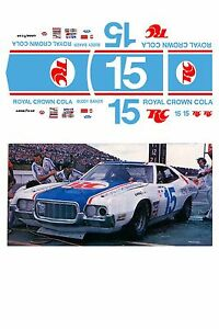 #15 Buddy Baker RC Cola 1974 1/64 scale decal fits AFX Tyco Lifelike Autoworld