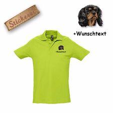 Camiseta De Algodón Polo Bordado Cavalier King Charles Spaniel 1 +