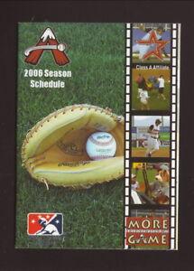 Salem Avalanche--2006 Pocket Schedule--Roanoke Valley YMCA--Astros Affiliate