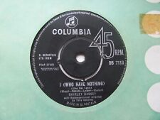 """SHIRLEY BASSEY I (Who Have Nothing)/How Can You Tell UK 7"""" Single VG+ Cond"""