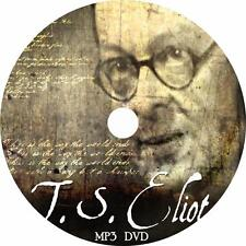 T. S. Eliot Poetry Audiobook Collection in English on 1 MP3 DVD Free Shipping