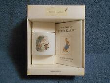 WEDGWOOD ORIGINAL PETER RABBIT BEATRIX POTTER MONEY BOX & BOOK SET NEW OPEN BOX
