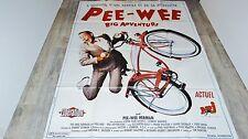 PEE-WEE big adventure  ! tim burton affiche cinema velo