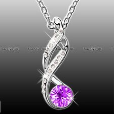 Infinity Necklace Purple Pendant Women Gifts for Her Mum Nan Gradma Wife J246C