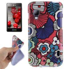 TPU Case für LG E460 Optimus L5 II abstrakte bunte Blumen Handyhülle Schutzcase