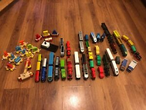 Cheap Trains (some just £1/£2!) for Brio / Wooden Train Track with Combined Post