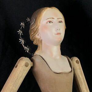 Manichino Devozione Pieta Domestica Legno 44cm Madonna Interior design Barocco