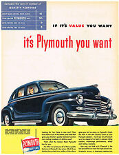 Vintage 1953 Magazine Ad Plymouth Quality Features In Lowest Price Field