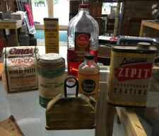 Vintage Lot Of Advertizing Tins & Boxes & Garage powder solvent Can Cleaners
