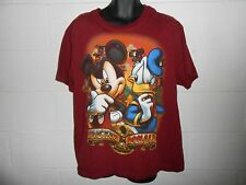 Maroon Mickey & Donald Disney Store Studio Collection T-Shirt Sz Xl