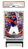 2013 Bowman SILVER ICE  Astros GEORGE SPRINGER RC Baseball Card PSA 9 MINT Pop 3