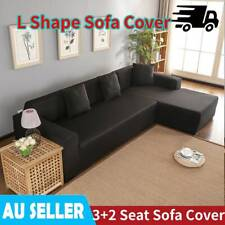 2 3 Seat Stretch Sofa Cover Couch L Shape Lounge Washable Protector Slipcover AU