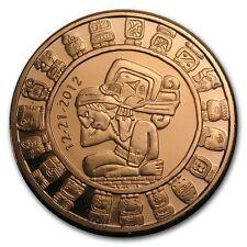 1 oz 999 Kupfer Copper Kupfer Medaille Münze Mayan Maya Calender Kalender