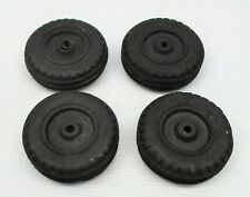 4 - Rubber Tires Vintage New Old Stock 1 -5/8 Hubley in Toy Parts
