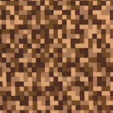 Fat Quarter Bitmap Brown Pixels 100% Cotton Quilting Fabric Michael Miller