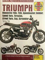 Haynes Manual Triumph Bonneville 2016 - 2019 Thruxton Scrambler Bobber 6401