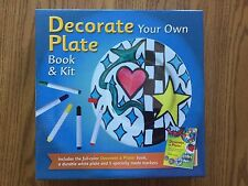 New! Decorate Your Own Plate Book & Kit - Great Gift Idea! Comes Complete! Craft