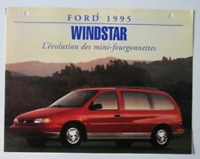 FORD WINDSTAR 1995 dealer sheet brochure - French - Canada ST501000818