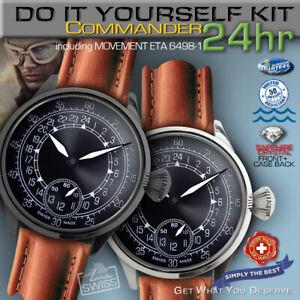 DO IT YOURSELF KIT:  PILOT-COMMANDER WATCH KIT INCLUDING MOVEMENT ETA 6498-1 24H