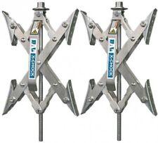 RV Accessories X Chock Wheel Stabilizer 2 Pair Motorhome Trailer Camper Parts