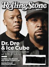 Rolling Stone Magazine Aug 27, 2015 - Dr. Dre & Ice Cube N.W.A - David Gilmour