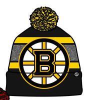 Boston Bruins Wintermütze Mommoth Pudelmütze Zephyr NHL Eishockey