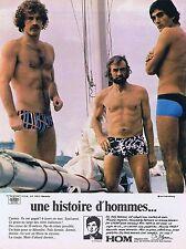 Publicité Advertising 016 1972 Hom sous-vêtements 1