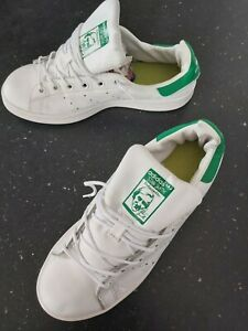 """Adidas Stan Smith Green/White Trainers Size 5 UK. """"HARDLY USED"""""""