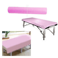50 Pcs/Roll Disposable Bed Sheets for Beauty & Massage Salons Non-Woven Pink