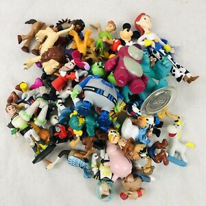 Disney Huge 41 Piece Cake Topper Figure Lot Mickey Toy Story Pirates Monsters