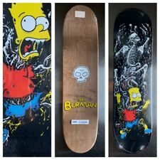 RARE THE SIMPSONS SPRINGFIELD MASSACRE BART SKATEBOARD DECK ZERO DANE BURMAN NEW