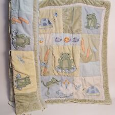 KIDS LINE BABY NURSERY Bumper Pad Comforter FROGS UNISEX INFANT BEDDING DECOR