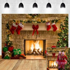 8x12 FT Kids Christmas Vinyl Photography Backdrop,Border with Cute Hanging Icons in Drawing Style Celebration of Noel Yuletide Background for Baby Birthday Party Wedding Graduation Home Decoration