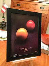 "Framed Original Paul McCartney & Wings ""Venus And Mars"" Lp Album Cd Promo Ad"