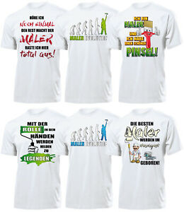 Maler Herren T-Shirt Männer Arbeitskleidung Bekleidung Geschenk lustig ideen