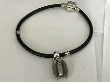 Vampire Bat Tg11 Made From Fine English Pewter on a Faux Leather Snake Bracelet